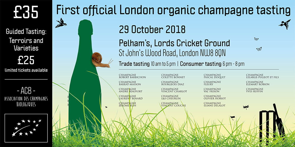 First Official Organic Champagne tasting in London
